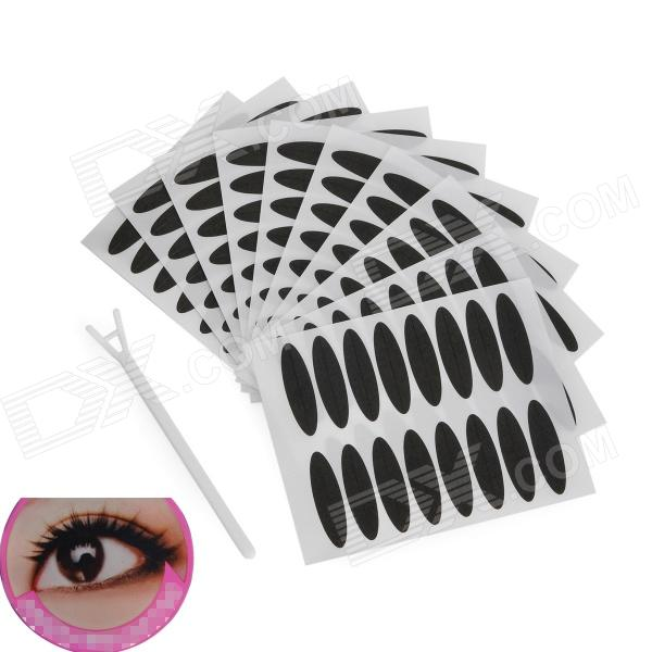 Cosmetic Double Eyelid Sticker / Eyeliner Sticker - White + Black (10 PCS) feng ling sb5512 ultrathin young model double eyelid tapes white yellow 240 pieces pack