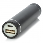 Universal Portable 2600mAh Power Bank for IPAD / IPHONE + More - Black