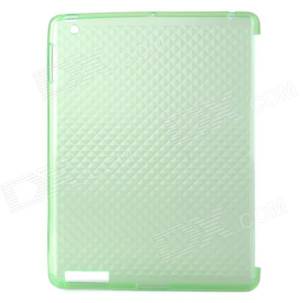 Protective Diamond Pattern TPU Back Case for Ipad 2 / the New Ipad - Light Green чехол для ipad prolife 16975 light green