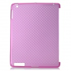 Protective Diamond Pattern TPU Back Case for iPad 2 / the New iPad - Deep Pink