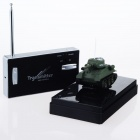 Rechargeable R/C Radio Control Mini Tank Model Toy - Army Green + Black