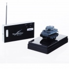 215 Mini 2-Channel R/C Radio Control Tank Model w/ Antenna - Dark Grey + Black