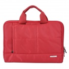 "Fashion Water Resistant Nylon + Woolen Hand Carrying Bag for iPad / 10"" Laptop Tablet - Red"