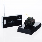 215 Mini 2-Channel R/C Radio Control Tank Model w/ Antenna - Camouflage Green + Black