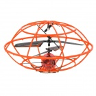 UFO Frame Style Rechargeable 3-CH IR Controlled R/C Toy - Orange