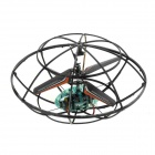 UFO Frame Style Rechargeable 3-CH IR Controlled R/C Toy - Black