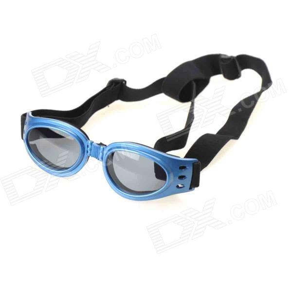 Fashion Outdoor Pet Dog Goggles UV Protection Sunglasses - Blue