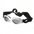 Fashion Outdoor Pet Dog Goggles UV Protection Sunglasses - White