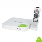 TB100 1080P Full HD Android 2.3 Сеть 3D Media Player ж / Wi-Fi / SD / HDMI / Dual USB - Белый (4 Гб)