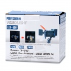 LED-5001 9W 450Lux 3-LED Video Lamp - Dark Grey