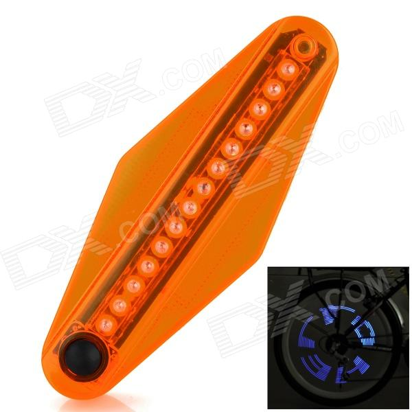 Bicycle 14-LED Blue Light Wheel Lamp w/ Sensor Clip - Orange