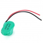 40mAh Rechargeable NiMH Button Cell Battery Pack with Bonding Wire for PCB / LED - Green
