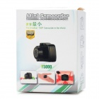 Ultra-mini 720kp HD CMOS Webcam Camera w/ TF Slot - Black