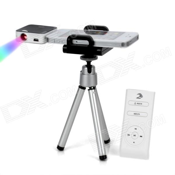 Portable Mini LCoS Projector for iPhone / iPad / iPod - Black + White