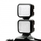 LED-5006 4W 160LM 36-LED video ljus lampa - svart