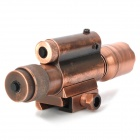 Cree XR-E Q5 90lm White Flashlight Gun Mount w/ 5mW Red Laser Scope - Bronze (1 x 18650/2 x AG13)