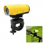 Waterproof Sports 1080P HD CMOS Camcorder w/ TF / 8-LED IR Night Vision - Yellow (8GB TF)