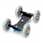 Floor Table Video Slider Track Dolly Car for DSLR Camera - Black + Grey