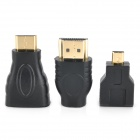 3-i-1 HDMI-Adapter Set - svart (3 st)