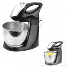 ST-238 250W 5-Speed Electric Egg Mixer Machine w/ Stand - Black + Silver (12L)