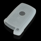 Protective Silicone Case for BMW 3-Button Remote Key - Translucent White