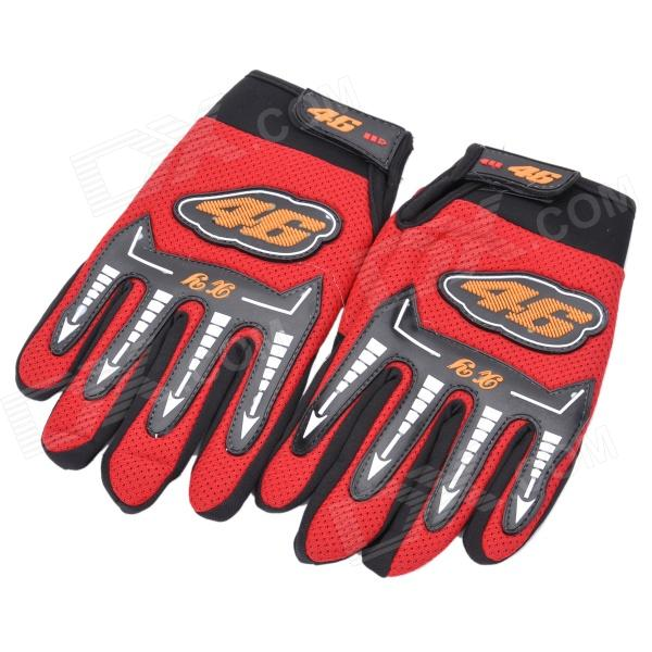 Sports Motorcycle/Motorbike Full Hand Venting Racing Gloves - Red (Pair)