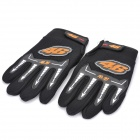 Sports Motorcycle/Motorbike Full Hand Venting Racing Gloves - Black (Pair)