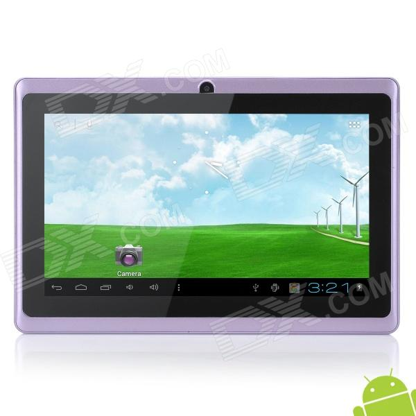 "UBOX A7 7"" Capacitive Screen Android 4.0.4 Tablet PC w/ TF / Camera / Wi-Fi / G-Sensor - Purple"
