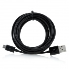 Buy USB 2.0 Micro 5Pin Data + Charging Cable - Black (300cm)