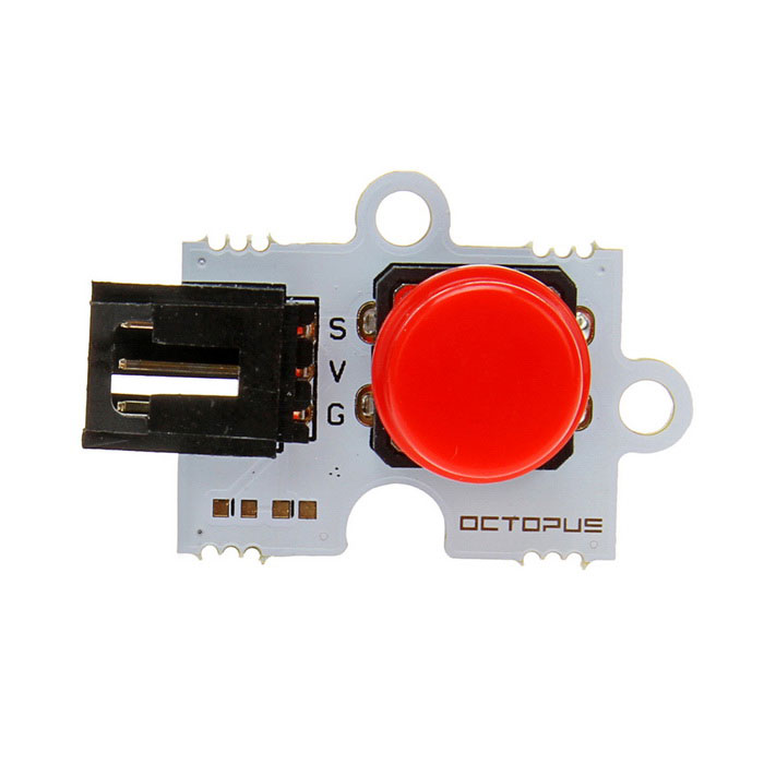 Octopus Digital Push Button Brick for Arduino (Works with Official Arduino Boards) produino electronic touch sensor button template button brick red