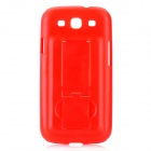 Protective Plastic Back Case w/ Stand for Samsung Galaxy S3 i9300 - Red