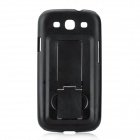 Protective Back Case Cover for with Slide Stand for Samsung Galaxy S3/I9300 - Black