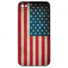 American Flag Pattern Replacement Back Bezel Frame Cover for iPhone 4S - White + Blue + Red