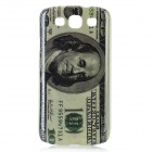 USA One Hundred-Dollar Bill Pattern Protective Kunststoff zurück Fall für Samsung i9300 - Grey