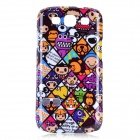 Stylish Cartoon Pattern Protective Plastic Case for Samsung i9300 - Multicolored