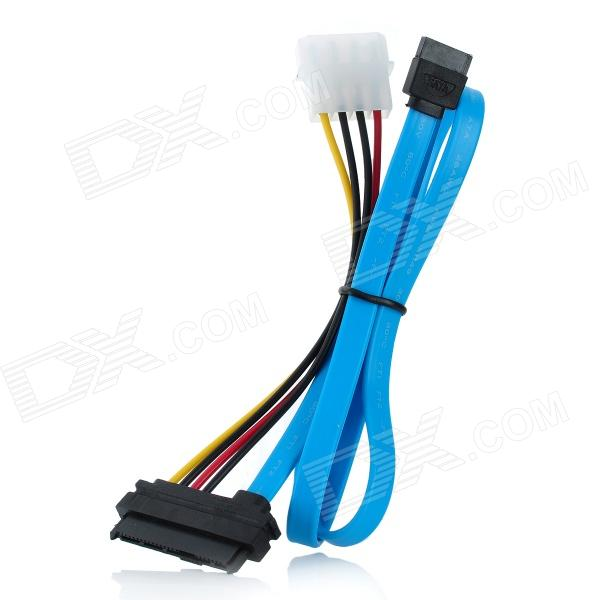 SAS Serial SFF-8482 to SATA Adapter Cable - Blue (70cm) mosunx advanced 0 5m mini sas sff 8087 36 pin to 4 sata 7 p hd splitter breakout cablemini 36p to sata support 10gbps 1pc