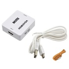 HDMI Female to VGA Female + 3.5mm Audio Jack Converter - White