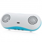 Peanut Shell Style Bluetooth Speaker w/ Charging USB + 3.5mm Audio Cable - Blue + White
