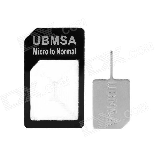 Micro SIM Card to Standard SIM Card Adapter for Iphone 4 / 4S / Sony MT25i / ST25i - Black