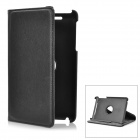Lychee Pattern 360 Degree Rotation Protective PU Leather Case w/ Holder for Google Nexus 7 - Black