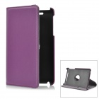 Lychee Pattern 360 Degree Rotation Protective PU Leather Case w/ Holder for Google Nexus 7 - Purple