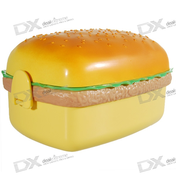 Cute Hamburger Lunch Box with Spoon