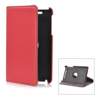 Lychee Pattern 360 Degree Rotation Protective PU Leather Case w/ Holder for Google Nexus 7 - Red