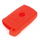 Protective Silicone Case for BMW 3-Button Smart Key - Red