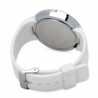 Fashion Round Shaped Touch Screen Red LED Waterproof Wrist Watch - White + Silver (1 x CR2032)