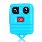 Replacement 3-Button Smart Key Housing Case for Ford - Light Blue