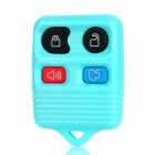 Replacement 4-Button Smart Key Housing Case for Ford - Light Blue