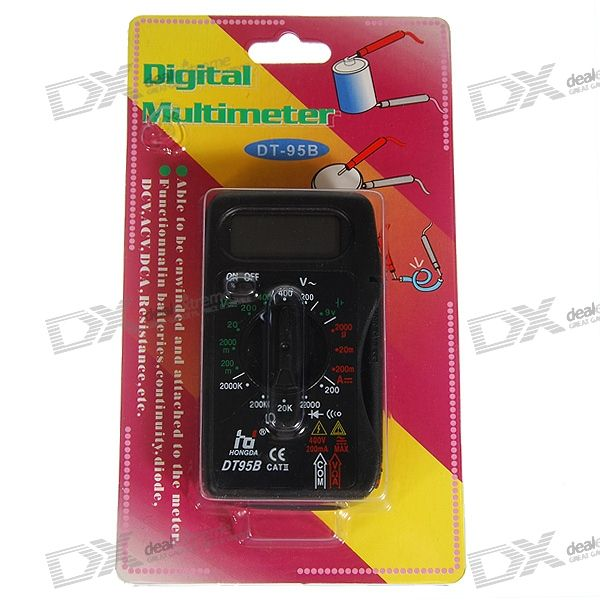 DT-95B Mini Simple Digital Multimeter (AC/DC 400V Max)