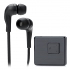 U&I BS034C Bluetooth v2.1 + EDR Clip-On Receiver w/ 3.5mm Earphone - Black (120 Hours-Standby)