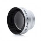 20mm 2.0X Telephoto Lens for Cell Phone / Digital Camera - Silver + Black